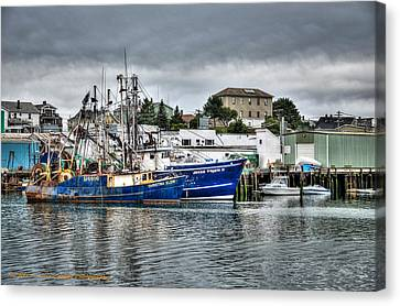 Docked For The Storms Canvas Print by Dan Crosby