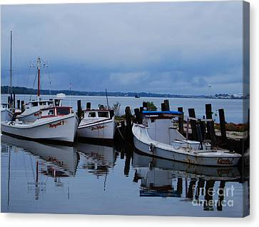 Canvas Print featuring the photograph Docked by Linda Mesibov