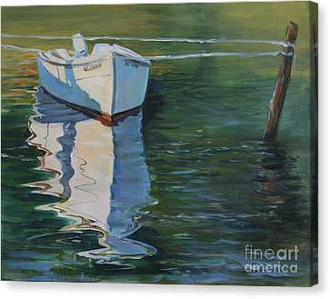 Docked On The Mobjack Bay Canvas Print