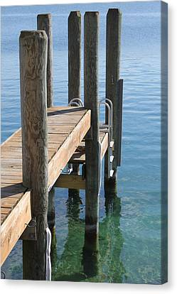 Docked Canvas Print by Sheryl Burns
