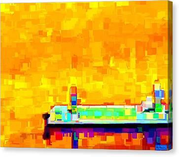 Dockside Canvas Print by Paula Greenlee