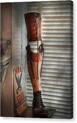 Doctor - A Leg Up In The Competition Canvas Print by Mike Savad