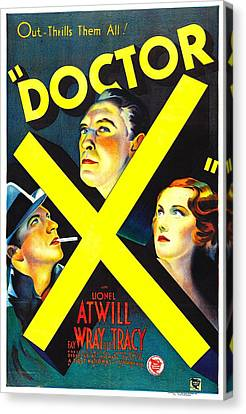 Doctor X, Lee Tracy, Lionel Atwill, Fay Canvas Print