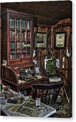 Typewriter Canvas Print - Doctor's Office by Susan Candelario