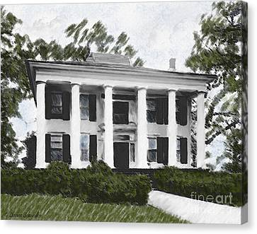 Dodd House Georgia Plantation Canvas Print by Lianne Schneider