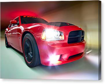 Canvas Print featuring the photograph Dodge Charger by Anna Rumiantseva