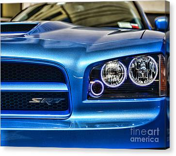 Dodge Charger Front Canvas Print by Paul Ward