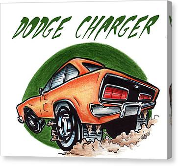 Dodge Charger Too Canvas Print