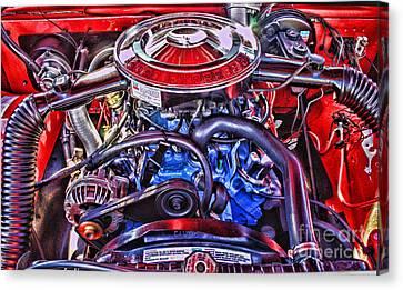 Dodge Motor Hdr Canvas Print by Randy Harris