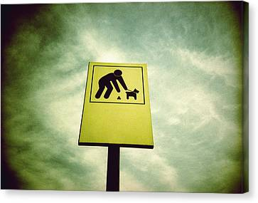 Dog Fouling Sign Canvas Print by Kevin Curtis