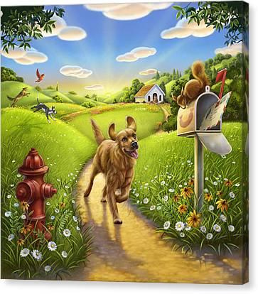 Dog Heaven Canvas Print by Anne Wertheim