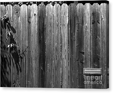Dog Inside. Leave Mail In Yard. Canvas Print by CML Brown