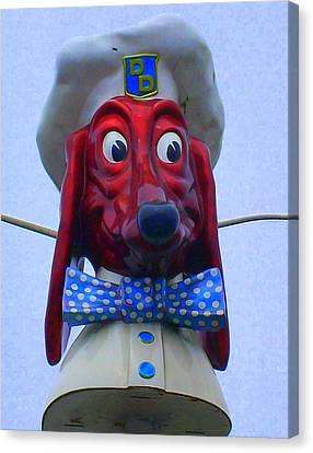 Doggie Diner Canvas Print by Randall Weidner