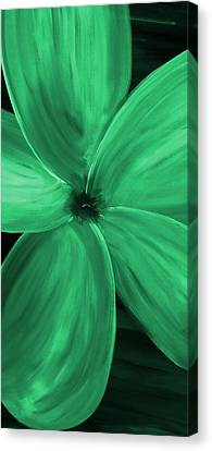 Silver Moonlight Canvas Print - Dogwood Bloom Green by Mark Moore