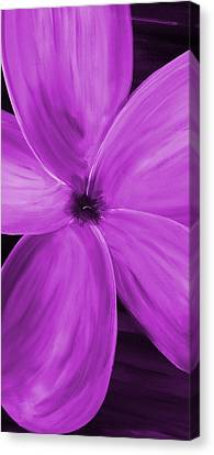 Silver Moonlight Canvas Print - Dogwood Bloom Purple by Mark Moore