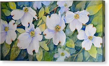 Dogwoods Canvas Print by Cynthia Roudebush