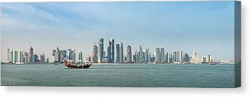 Doha Skyline Feb 2012 Canvas Print by Paul Cowan
