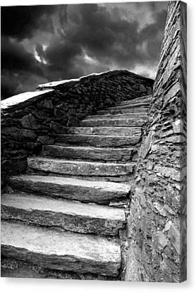 Dolbadarn Castle Steps Canvas Print by Duncan Rowe