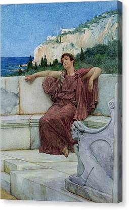 Carved Canvas Print - Dolce Far Niente by Sir Lawrence Alma-Tadema