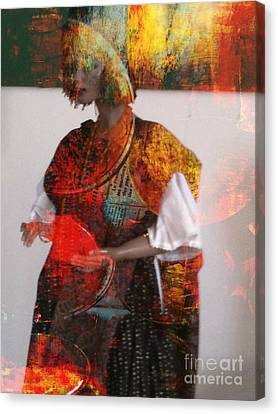 Doll In Paint Canvas Print by Fania Simon