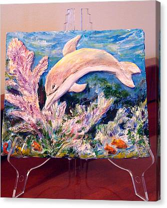 Dolphin - Almost Real Canvas Print