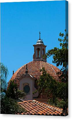 Canvas Print featuring the photograph Dome At Church Of The Little Flower by Ed Gleichman