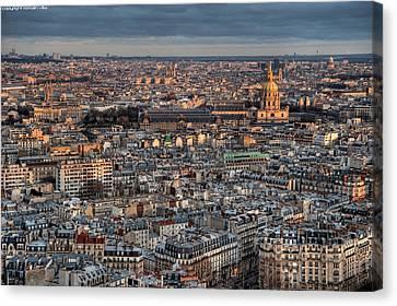 Dome Des Invalides Canvas Print by Romain Villa Photographe