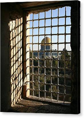 Dome Of The Rock Canvas Print by Tia Anderson-Esguerra