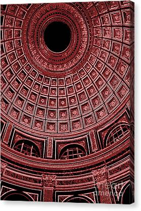 Canvas Print featuring the photograph Dome. Vatican. Red by Tanya  Searcy