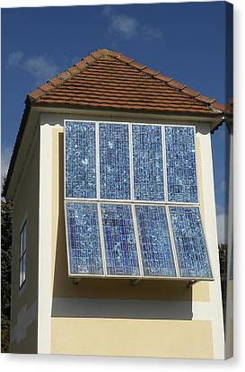 Domestic Solar Panel Canvas Print by Friedrich Saurer