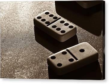Dominoes Canvas Print by Lori Coleman