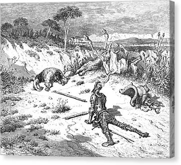 Don Quixote & Sancho Panza Canvas Print by Granger