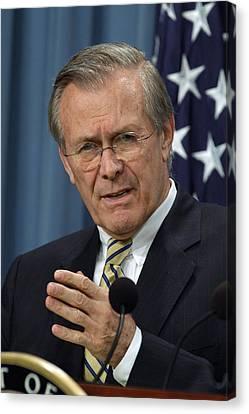 Donald H. Rumsfeld Secretary Of Defense Canvas Print by Everett