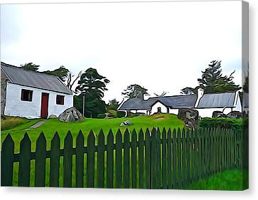 Canvas Print featuring the photograph Donegal Home by Charlie and Norma Brock