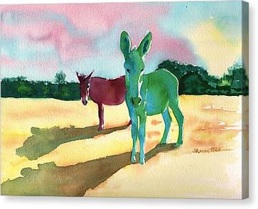 Donkeys With An Attitude Canvas Print