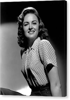 Donna Reed, 1944 Canvas Print by Everett