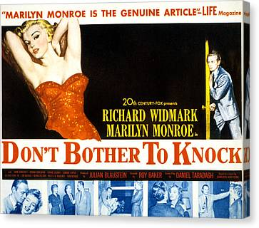 Dont Bother To Knock, Marilyn Monroe Canvas Print by Everett