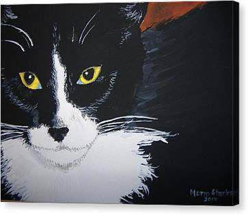 Canvas Print featuring the painting Don't Bug Me by Norm Starks