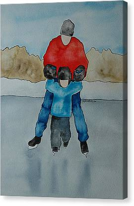 Don't Let Go Dad Canvas Print by Twyla Wehnes