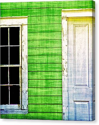 Door And Window Canvas Print by Nancie Rowan