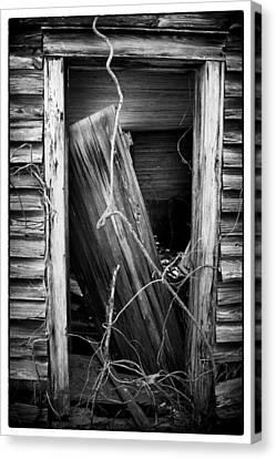 Door Bw Canvas Print by Mark Wagoner
