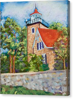 Door County Lighthouse Canvas Print by Pat Olson