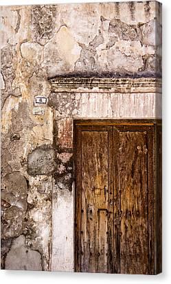 San Miguel De Allende Canvas Print - Door Detail Mexico by Carol Leigh