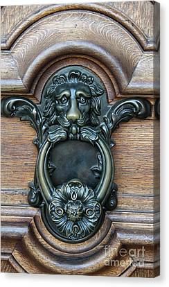 Doorknocker Lionshead Canvas Print by Christiane Schulze Art And Photography