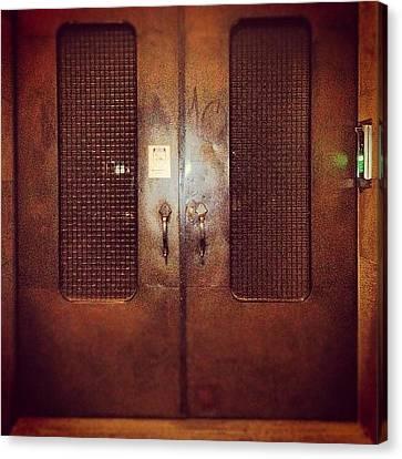 #door#photography#art#steampunk#prison Canvas Print
