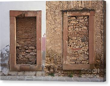 Canvas Print featuring the photograph Doors - Mineral De Pozos Mexico by Craig Lovell