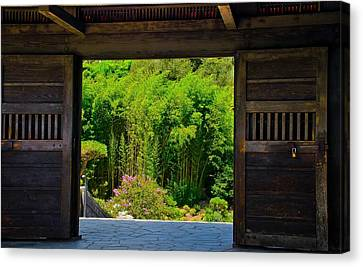 Canvas Print featuring the photograph Doors To Garden by Joseph Hollingsworth