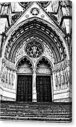 Doors To Saint John The Divine Canvas Print by Anne Raczkowski