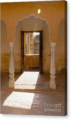 Doorway And Arch In The Amber Fort Canvas Print by Inti St. Clair