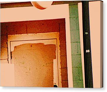 Doorway On Northern Avenue Canvas Print by Lenore Senior
